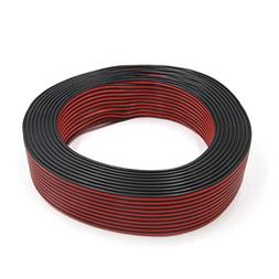 uxcell 0.3mm2 x 100M Black Red Horn Speaker Wire Cable for A