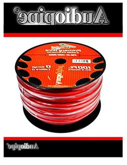AUDIOPIPE 0 GA GAUGE RED POWER GROUND WIRE CABLE CAR AUDIO A
