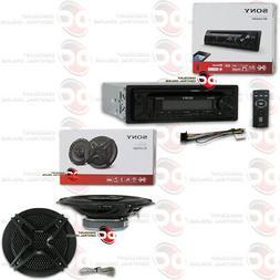 """SONY 1-DIN CAR FM CD USB AUX IN DASH BLUETOOTH STEREO + 6.5"""""""