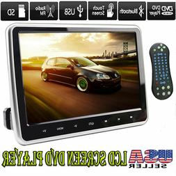 "10.1"" LCD Screen Car Headrest TV Monitor DVD/USB/SD/HDMI Pla"