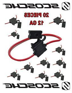 20 pack Scosche 12 ga ATC Heavy Duty Fuse Holder 12 Volt Aut