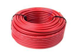 12 GA Gauge 50' Feet Red Audiopipe Car Audio Home Remote Pri