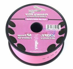 12 GA gauge 100' Pink Audiopipe Car Audio Home Primary Wire