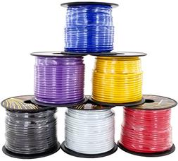 16 Gauge 6 Color Roll Primary Wire Combo Pack | 100 ft per R