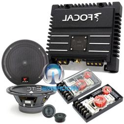 """pkg 165A1 - Focal 6.5"""" 120 Watts 2-Way Component Speakers Sy"""