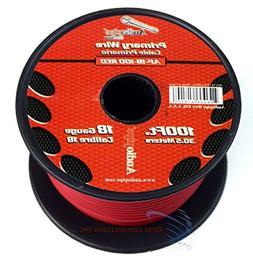 18 GA 100 Feet Red Audiopipe Car Audio Home Remote Primary C
