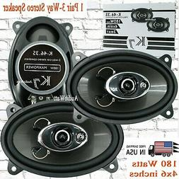"K7  180W 4 x 6""   4-Way Coaxial Car Speaker CEA Rated  -1 Pa"