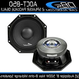 "8"" Octagon Midrange Speaker 1000W 8-ohm Car Audio Mid 1 Pair"