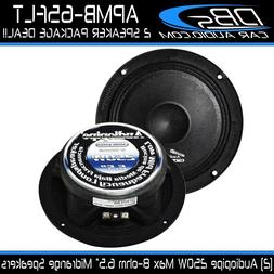"6.5"" Slim Midrange Speaker 500W 8 ohm Car Audio Mid 1 Pair A"