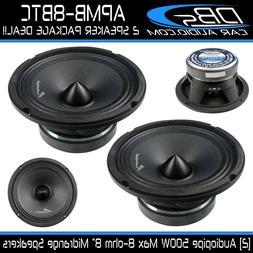 "2 Audiopipe APMB-8BTC 8"" Midrange Speaker 1000 Watt 8ohm Lou"