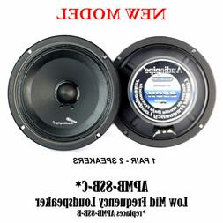 "2 Pcs 8"" 250W Low Mid Frequency Speakers Full Range Car DJ A"