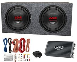 """2) Boss CH10DVC 10"""" 3000W Car Subwoofers Subs+Sealed Box Enc"""