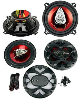 "2) BOSS CH5530 5.25"" 3-Way 225W + CH6530 6.5"" 300W 3 Way Car"