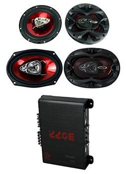 """2) Boss CH6530 6.5"""" 300W + 2) CH6930 6x9"""" 350W 3-Way Speaker"""