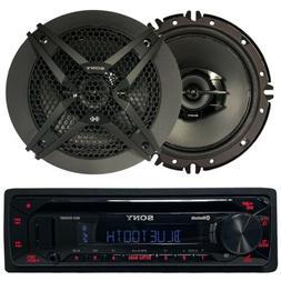 """2 Kenwood Coaxial 6.5"""" Car Speakers, Pioneer Bluetooth CD US"""
