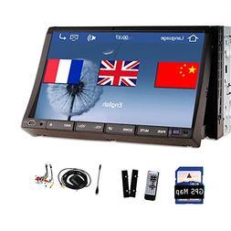 7 Inch 2 Din Car DVD Video PC Player Bluetooth USB IPOD Stee