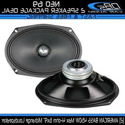"""2 American Bass NEO 6.9 6x9"""" Midrange Loud Speaker 900W 4ohm"""