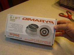 "2) NEW Pyramid TW18 3.25"" 300W Pro Horn Car Audio Tweeters S"