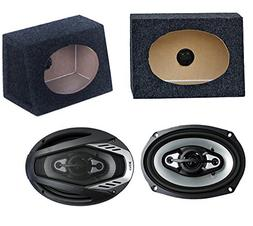 "2) NEW BOSS NX694 6x9"" 800W Car Audio Speakers + 2) 6x9"" Spe"