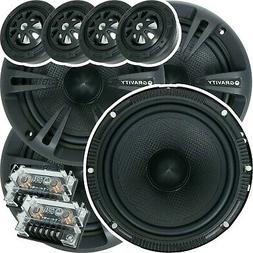 Two Pairs of Gravity 6.5-Inch 2-Way Car Component Speaker Au