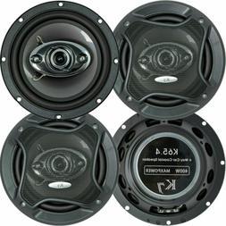 "2 Pairs  K65.4 6.5"" 400 Watts 3-Way Car Audio Stereo Coaxial"