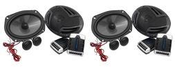 "Pairs Rockville RV69.2C 6x9"" Component Car Speakers 2000w/4"