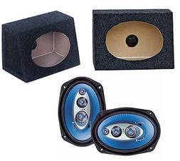 "2) NEW Pyle PL6984 6x9"" 400W Car Audio Speakers + 2) 6x9"" Sp"