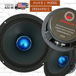 Gravity 2) PRO 8 Inch Classic Midrange Loud Speaker 4-Ohms -