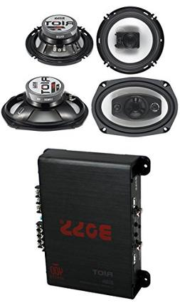 "2) Boss R94 6x9"" 500W 4 Way Car + 2) 6.5"" 300W 3 Way Speaker"