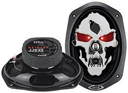 "2) NEW BOSS SKULL SK693 6x9"" 600W 3 Way Coaxial Car Speakers"