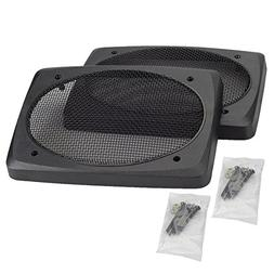 """2 6x9 """" 6 x 9 Inch Speaker Grill Cover Grills Mesh Material"""