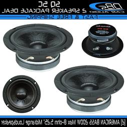 "2 American Bass SQ 5C 5.25"" Midrange Pro Car Audio Loud Spea"