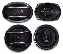 "2) Pioneer TS-A1676R 6.5"" 3-Way + 2) Pioneer TS-A6966R 6X9 3"