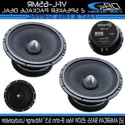 "2 American Bass VFL-65MR 6.5"" Car Audio Midrange Loud Speake"