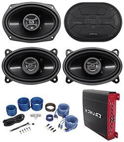 """2) Hifonics ZS693 6x9"""" 800W Car Speakers+2) 4x6"""" Speakers+4-"""