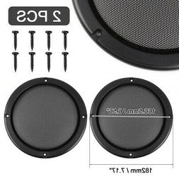 "2pcs 6.5"" Car Audio Speaker DJ Grill Cover Steel Mesh Woofer"