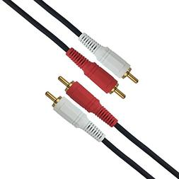 2RCA Male to 2RCA Male Stereo Audio Cable, Composite Audio 2