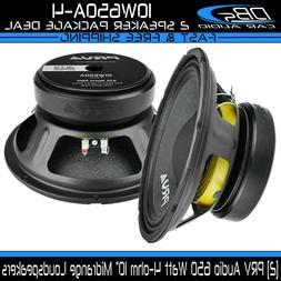 "2x PRV Audio 10W650A-4 Mid Range ALTO Car Stereo 10"" Speaker"