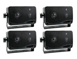 """4) New PYRAMID 2022SX 3.25"""" 400w 3-Way Car Audio Mini Box Sp"""