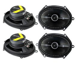 4 Kicker 41DSC684 D-Series 6x8 400 Watt 2-Way 4-Ohm Car Audi