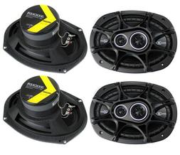 "4) New Kicker 41DSC6934 D-Series 6x9"" 720 Watt 3-Way Car Aud"