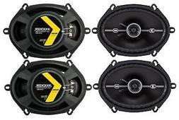 """4) Kicker 43DSC6804 D-Series 6x8"""" 200 Watt 2-Way 4-Ohm Car C"""