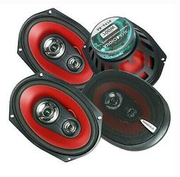 "4x Audiotek K7 6"" x 9"" 5-Way 1400 Watts Coaxial Car Speakers"
