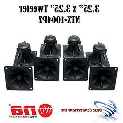 "4 Pair of 3.25"" x 3.25"" Piezo Tweeter Element DJ Speaker Car"