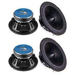 "4) NEW AUDIOPIPE APMB-8BT 8"" 2000W Low/Mid Car Loudspeakers"
