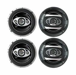 "4) NEW BOSS AUDIO P65.4C 6.5"" 4-Way 800W Car Audio Coaxial S"