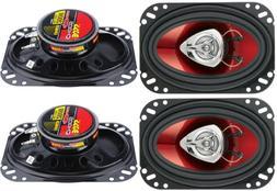 """4) New BOSS CH4620 4x6"""" 400W 2-Way Car Audio Coaxial Speaker"""