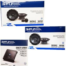 ALPINE 4Channel Car Amplifier +6.5-Inch 2-Way Coaxial And Co