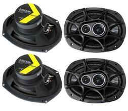"""4 KICKER DSC6934  6""""x9"""" Coaxial 3-Way Car Audio Speakers  Ne"""