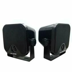 "4"" Heavy Duty Waterproof Boat Marine Box Outdoor Speakers Su"